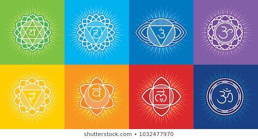 7 Chakras Of Human Body And Symbol Om Editable Vector Set Sahasrara Ajna Vishuddha Anahata Manipura Svadhisthana M Salute E Benessere Benessere Salute