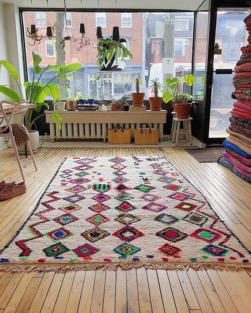 Contemporary Moroccan Rug With Cotton