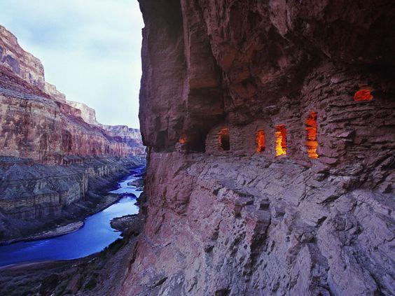 Anasazi Ruins at dusk in Arizona