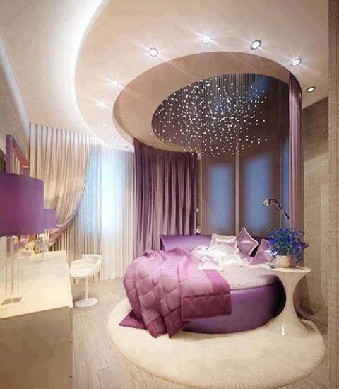 Lavender bedroom with star lights | Home Decor: Bedroom | Pinterest |  Bedrooms, Lights and Dark furniture