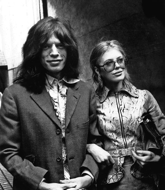 and it was 60.. Marianne Faithfull and Mick Jagger going to court after they had been arrested during a police raid at their Cheyne Walk flat for possession of illegal substances:
