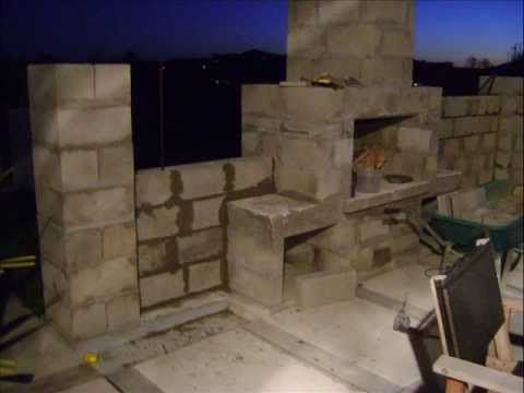 How To Build An Outdoor Fireplace Using A Stone Age Fireplace Kit Youtube This Pic Isn 39 T From