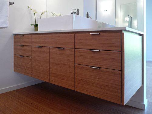 Mid century modern bathroom modern bathrooms and vanities - Mid century modern double bathroom vanity ...