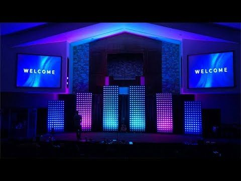 A Modern Church Stage Design Idea And How We Did It Youtube Church Stage Design Church Stage Design Ideas Backdrops Church Stage