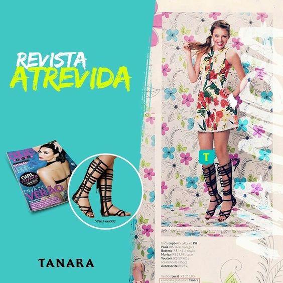 Olha a gladiadora Tanara fazendo sucesso na @revista_atrevida!  Impossível não curtir.
