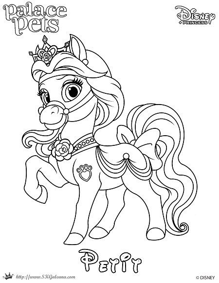 Free Coloring Page Featuring Petit From Disney S Princess Palace Pets Disney Princess Pets Palace Pets Princess Palace Pets