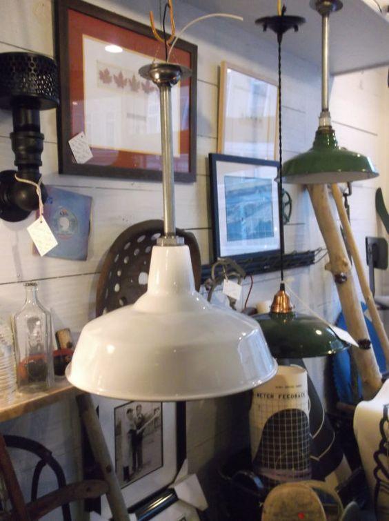 vintage white porcelain rlm industrial pendant light barn shop light antique industrial pendant lights white