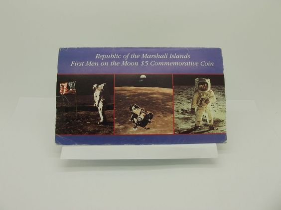 1989/1969 Republic of Marshall Island 1st Men on the Moon $5 Commemorative coin  http://www.ebay.com/itm/1989-1969-Republic-of-Marshall-Island-1st-Men-on-the-Moon-5-Commemorative-coin-/181584435739?ssPageName=STRK:MESE:IT