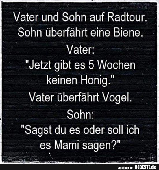 Vater Und Sohn Auf Radtour Lustige Bilder Spruche Witze Echt Lustig Witze Lustig Witze Lustig
