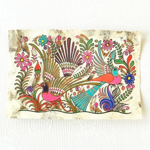 Une petite toile Mexicaine vraiment jolie ! Une idée de souvenir à ramener lors de mon voyage :D