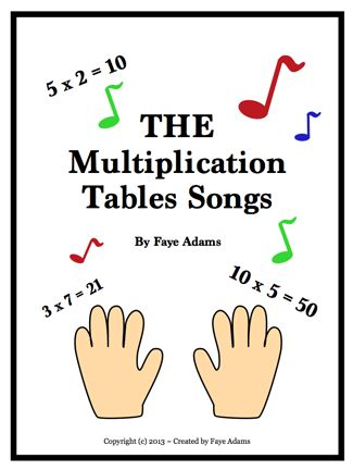 Here's a set of lyrics for teaching multiplication facts through the use of songs. Includes directions.