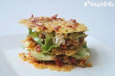 Crujiente de queso y jamón ibérico con tapenade   L'Exquisit
