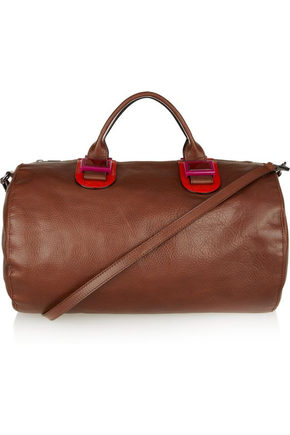 Meredith Wendell Leather duffle bag