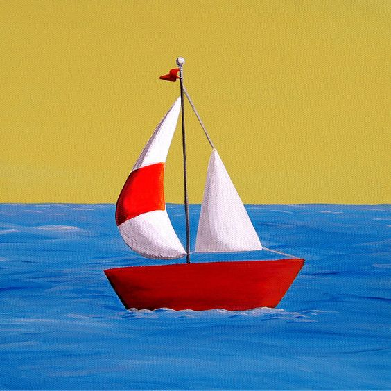 simple sailboat painting - Google Search | painting ideas ...