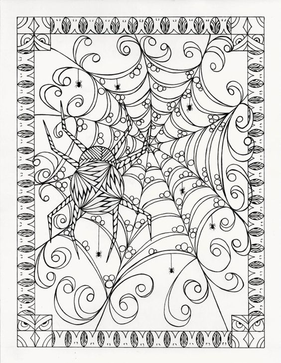 Halloween Coloring Pages Advanced : Coloriage coloration and halloween on pinterest