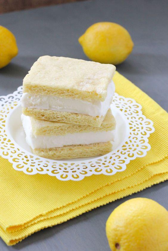 Lemonade Ice Cream Sandwiches