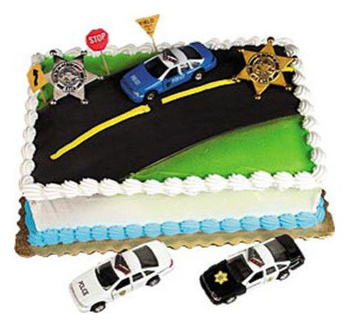 Policeman Cake Design : Police Car Cake Decorating Kit Cruiser Topper Policeman ...