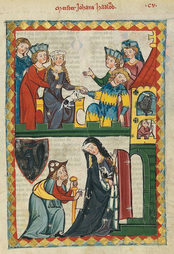 Codex Manesse, UB Heidelberg, Cod. Pal. germ. 848, fol. 371r, Meister Johannes Hadlaub