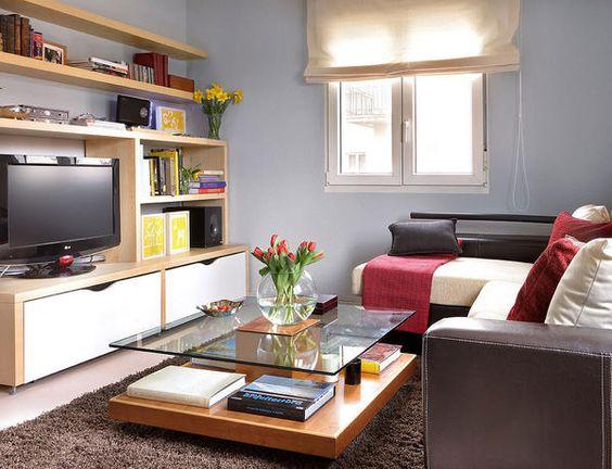 ambientes en pocos metros - 50 m2 bien decorados - Pequenas pocos ...