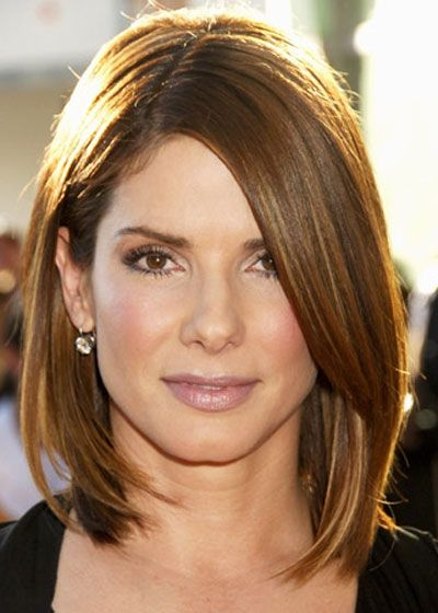 Outstanding Sandra Bullock Bobs And Mid Length On Pinterest Hairstyles For Women Draintrainus