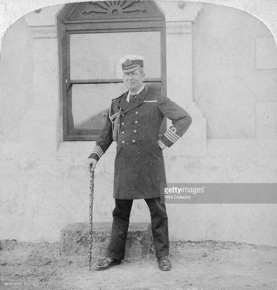 Captain Sir Edward Chichester, British naval officer, Cape Town, South Africa…