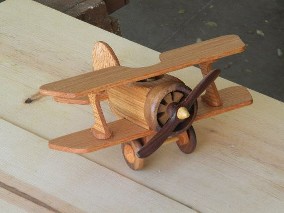 I make this fun little bi-plane from oak and walnut. Itll last forever and become a keepsake for your child. Loads of detail, including a