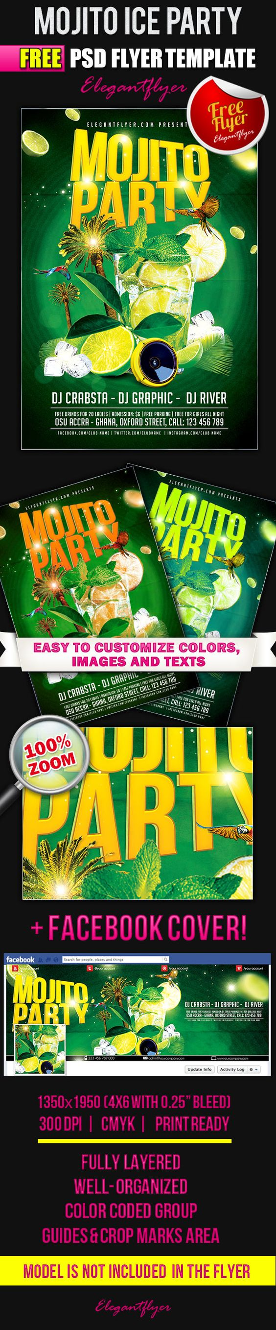 mojito ice party flyer psd template facebook cover mojito ice party flyer psd template facebook cover