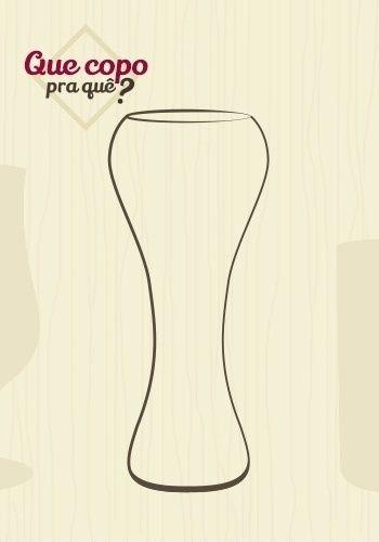 Copo weizen: o copo weizen é recomendado para a apreciação das cervejas de trigo e, por ser bastante alto, comporta até 500 ml de bebida. Seu formato permite a correta expansão da espuma e a visualização das cores da cerveja