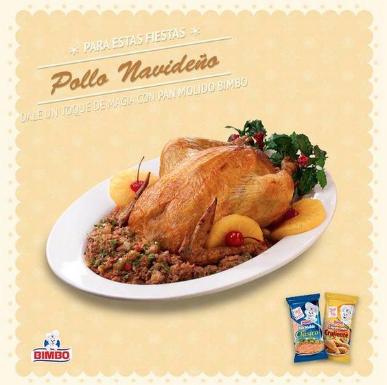 ¿Ya saben qué van a cenar mañana en la noche? Les dejamos un riquísima receta de nuestro Pollo Navideño.