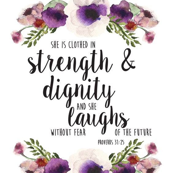 Proverbs 31:25: