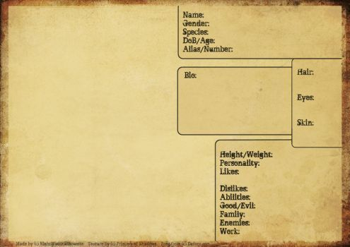 Oc Reference Sheet Blank By Roninaway Character Sheet Template