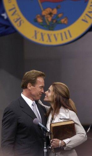 Arnold SCHWARZENEGGER and Maria SHRIVER. (2003)