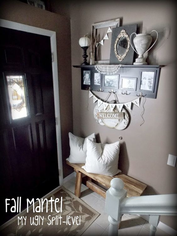 My ugly split level house ideas pinterest entry ways for Split entry living room decorating ideas