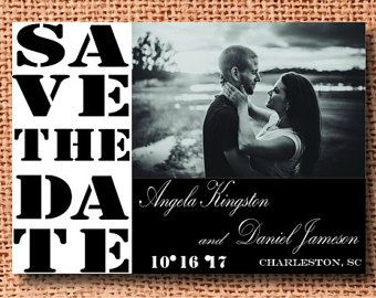 Chalkboard Save the Date Template Wedding by Pixelpearldesigns