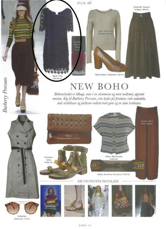 As seen in ELLE (DK) - Page 74: VILA dress
