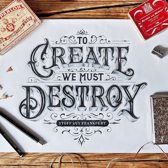 Spectacular hand drawn typography by @tobiassaul