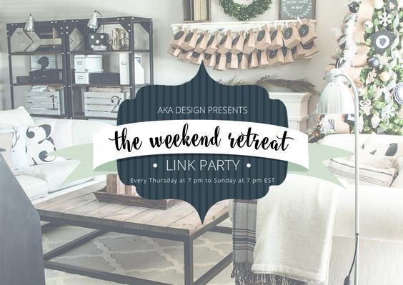 Weekend Retreat Link Party #149 - http://akadesign.ca/weekend-retreat-link-party-149/
