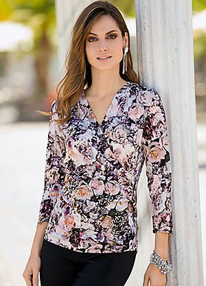 Together Print Jersey Wrap Top #Kaleidoscope #Fashion