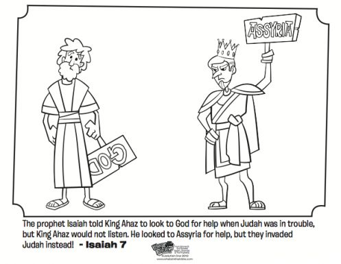 Coloring pages coloring and the gospel on pinterest for Prophet isaiah coloring page