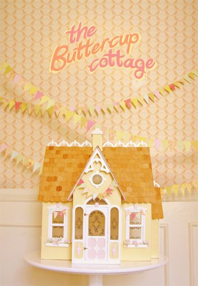 Dollhouse buttercup cottage kit dolls pinterest for Kit di cabina e cottage