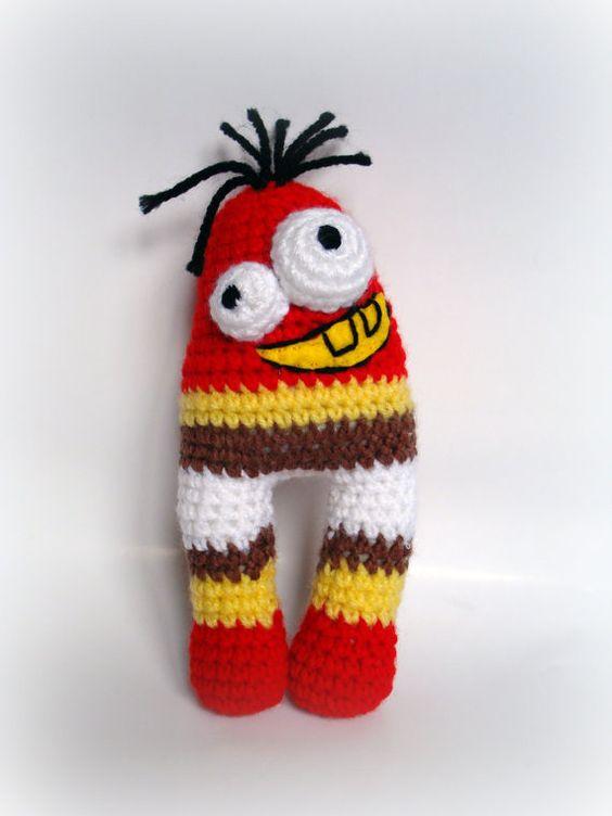Crocheted Amigurumi UglyCute Monster by AllSoCute H?klet ...