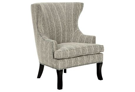 Thomas Wingback Chair, Black/White - From the Home Decor Discovery Community at www.DecoandBloom.com