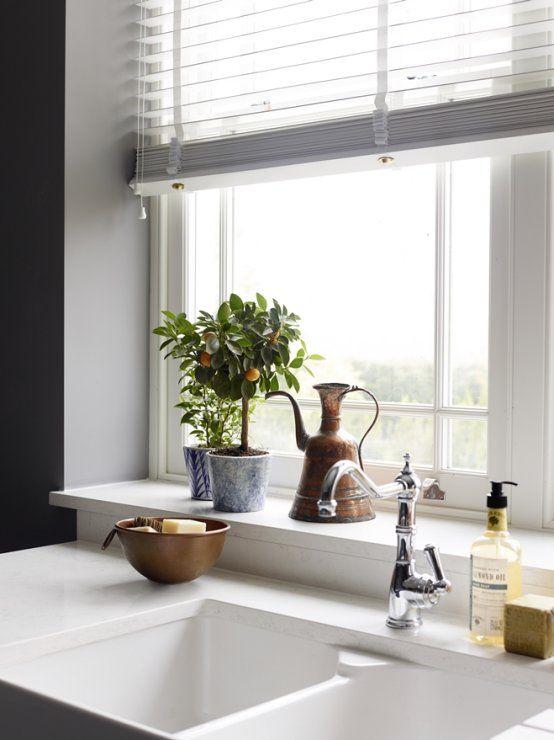 Wide Window Sill By Sink Kitchen Window Design Window Sill Decor Kitchen Window Sill