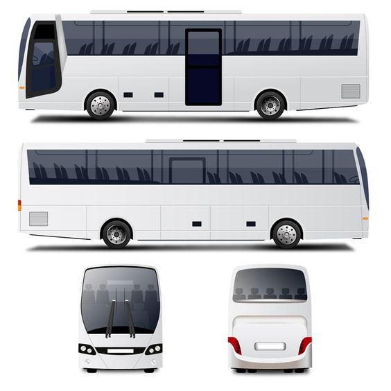 Vector Bus mock up psd free | mock-up | Pinterest | Buses