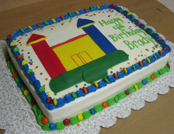 Bounce House Cake By Cake Creations By Shelly Via Flickr