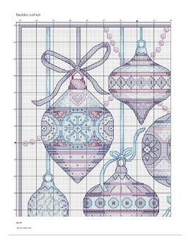 Holiday Bauble Counted Cross Stitch Pattern