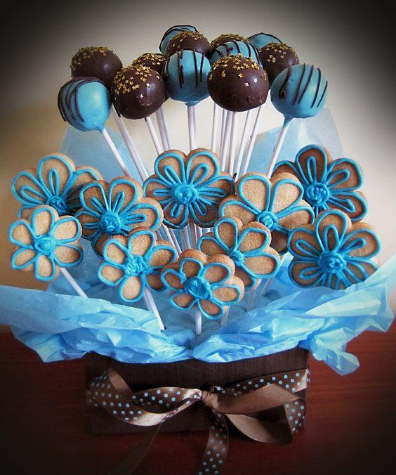 Cake Pop & Cookie Bouquet.