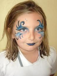maquillage enfant, halloween, princesse halloween make up children princess
