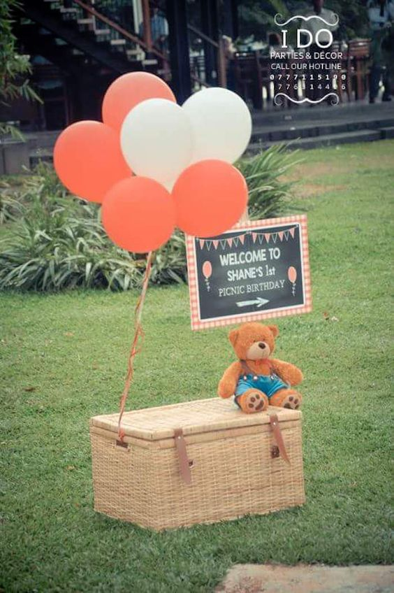 Welcome sign from a Teddy Bear Picnic Birthday Party via Kara's Party Ideas | KarasPartyIdeas.com | The Place for All Things Party! (13)