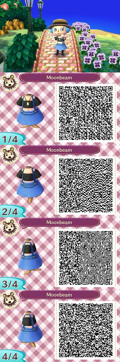 Made my first animal crossing new leaf (acnl) qr code. Black crop top with overalls. Maybe I'll add a little bag later or something. :)